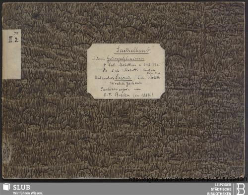 Vorschaubild von 10 Motets - Becker III.2.74