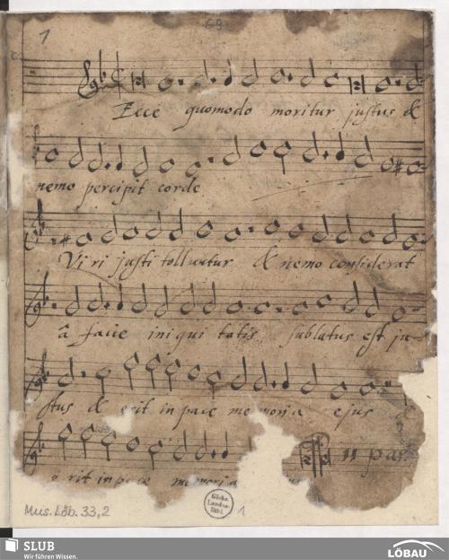 Vorschaubild von 14 Motets - Mus.Löb.33,2