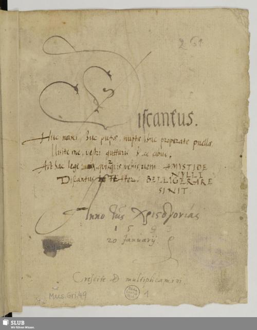 Vorschaubild von 165 Motets - Mus.Gri.49