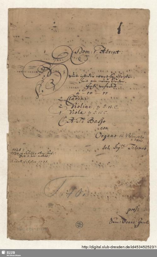 Vorschaubild von 2 Cantatas - Mus.2392-E-579