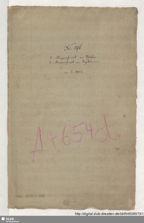 Vorschaubild von 2 Magnificat - Mus.3549-E-508 - Mus.3549-E-508a