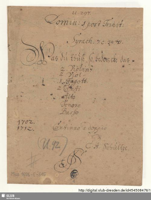 Vorschaubild von 2 Sacred songs - Mus.1696-E-515
