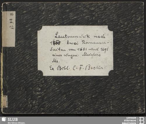 Vorschaubild von 2 Suites - Becker III.12.16