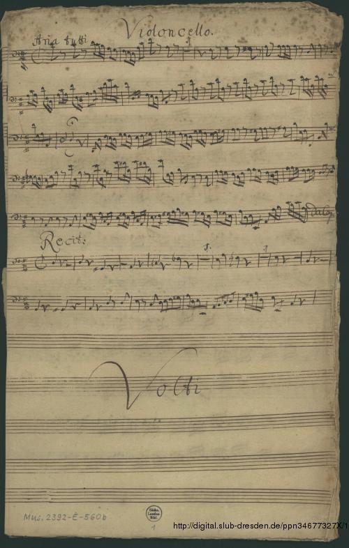 Vorschaubild von 2 Cantatas. Excerpts - Mus.2392-E-560b