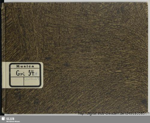 Vorschaubild von 34 Motets - Mus.Gri.54