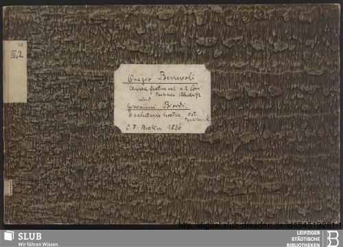 Vorschaubild von 3 Sacred songs - Becker III.2.23