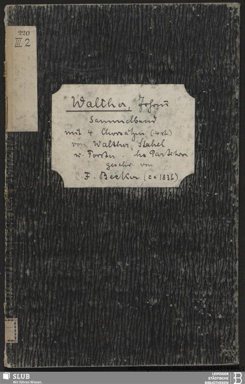 Vorschaubild von 4 Antiphonies - Becker III.2.220