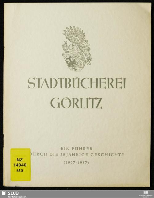 Vorschaubild von 50 Jahre Stadtbücherei Görlitz