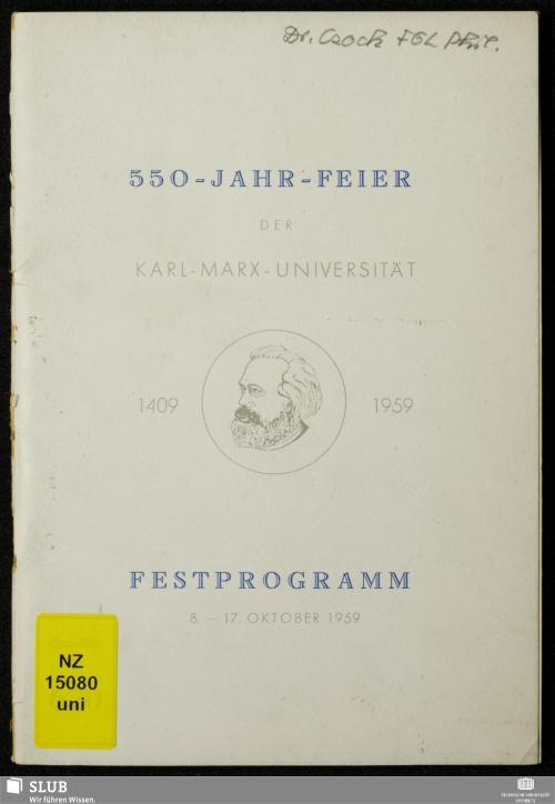 Vorschaubild von 550-Jahr-Feier der Karl-Marx-Universität