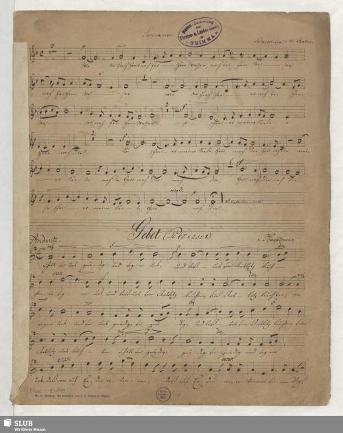 Vorschaubild von 5 Sacred songs - Mus.1-E-819