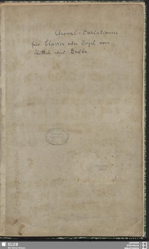 Vorschaubild von 5 Variations - Becker III.8.37