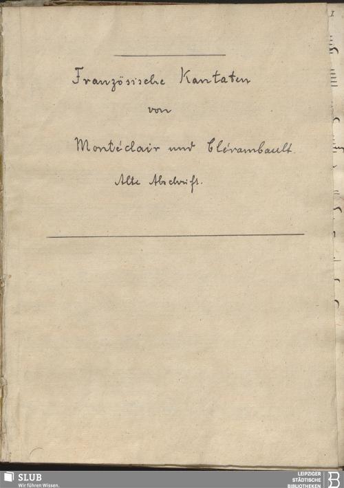 Vorschaubild von 6 Cantatas - Becker III.5.9