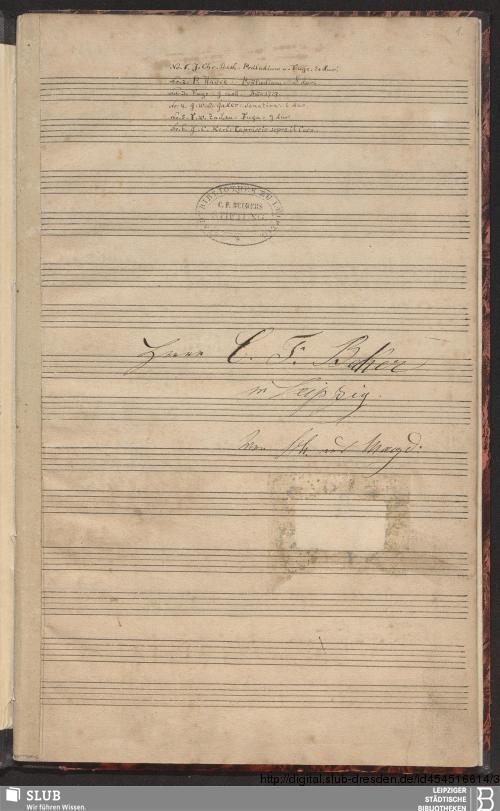 Vorschaubild von 6 Instrumental pieces - Becker III.8.5