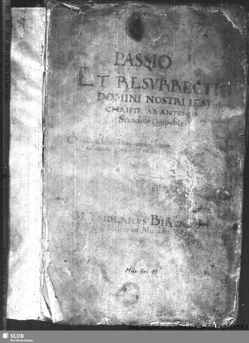 Vorschaubild von 6 Passions - Mus.Gri.11