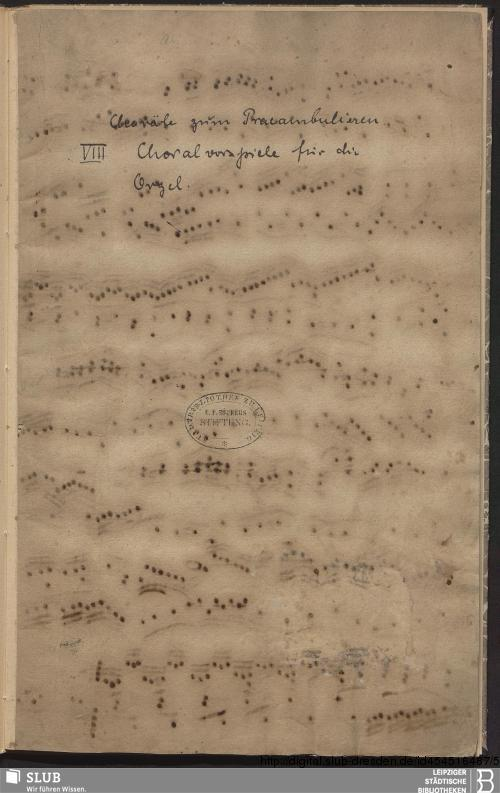 Vorschaubild von 8 Chorale arrangements - Becker III.8.27