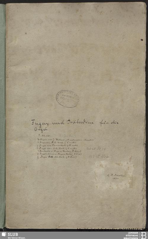 Vorschaubild von 9 Fugues - Becker III.8.29