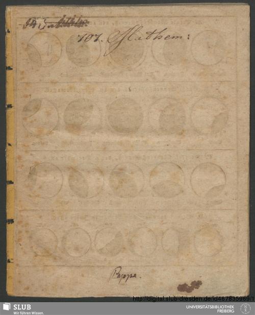 Vorschaubild von Abbildung und Beschreibung der drey großen Sonnen- und Mondenfinsternisse, welche sich im Jahre 1816 ereignen, nebst Betrachtungen über die Sonne, die Erde, den Mond und die Planeten, ingleichen etwas über den Irrthum und die Schädlichkeit des Kalenderaberglaubens
