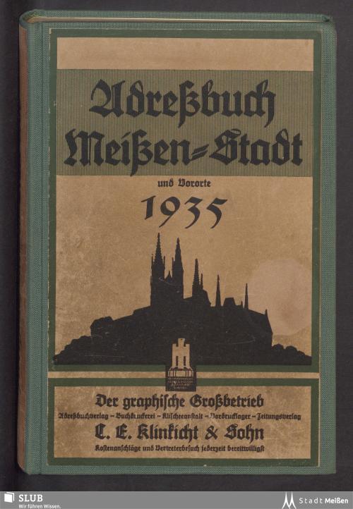 Vorschaubild von [Adreßbuch Meissen-Stadt und Vororte Dobritz und Klosterhäuser]