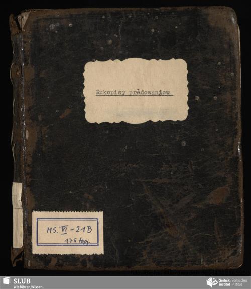 Vorschaubild von Agenda z rukopisnym pśełožkom do dolnoserbšćiny