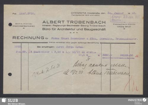 Vorschaubild von Albert Trübenbach, Inhaber: Georg Trübenbach, Büro für Architektur und Baugeschäft