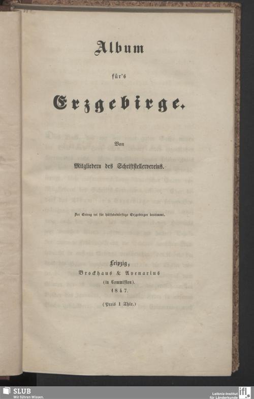 Vorschaubild von Album für's Erzgebirge