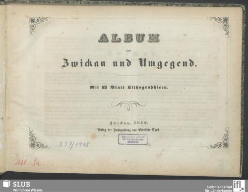 Vorschaubild von Album von Zwickau und Umgegend