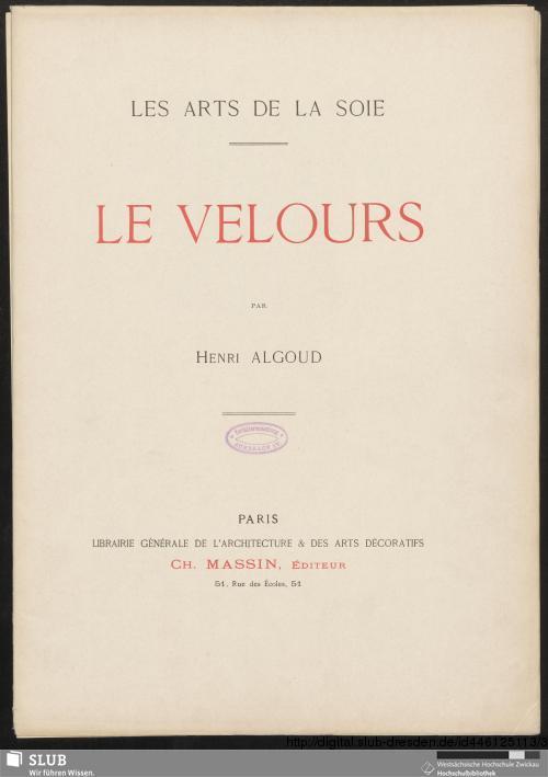 Vorschaubild von Le velours