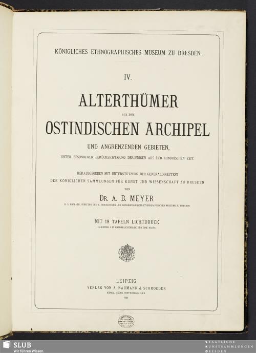 Vorschaubild von Alterthümer aus dem ostindischen Archipel und angrenzenden Gebieten