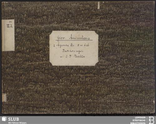 Vorschaubild von 2 Sacred songs - Becker III.2.14
