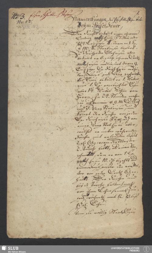 Vorschaubild von Anmerckungen, das Eisenhütten-Wesen betr. Beym Frisch-Feuer - XVII 42 4.