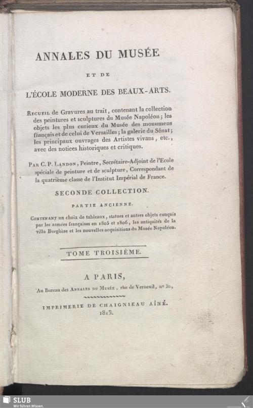 Vorschaubild von [Annales du Musée et de l'Ecole Moderne des Beaux-Arts]
