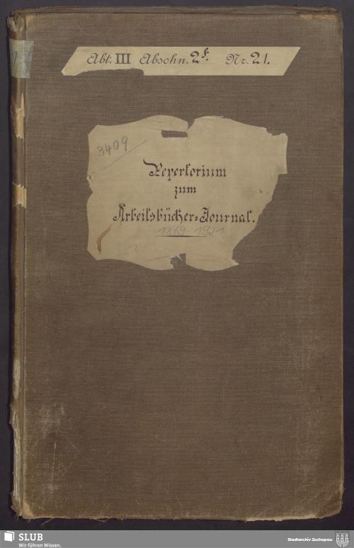 Vorschaubild von Repertorium zum Arbeitsbücher-Journal - 3409