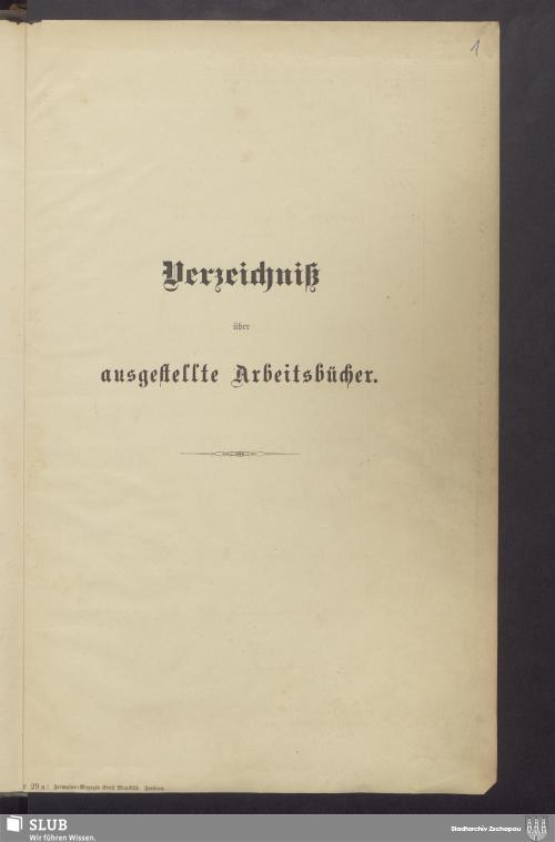 Vorschaubild von Verzeichniß der ausgestellten Arbeitsbücher - 3558