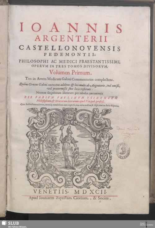 Vorschaubild von Tres in Artem Medicam Galeni Commentarios complectens