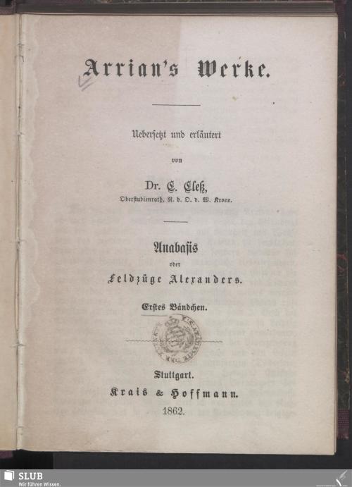 Vorschaubild von Anabasis oder Feldzüge Alexanders