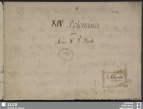 Vorschaubild von 14 Polonaises - Becker III.8.24