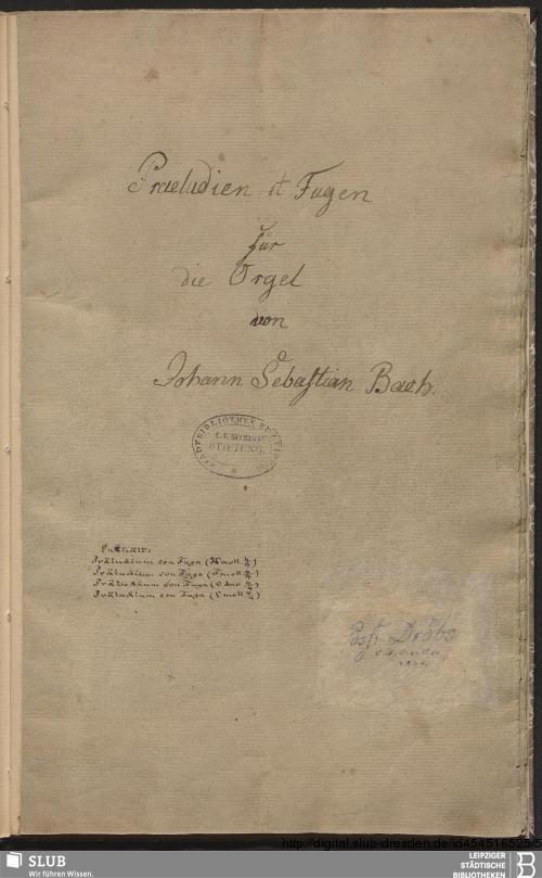Vorschaubild von 4 Preludes and fugues - Becker III.8.21
