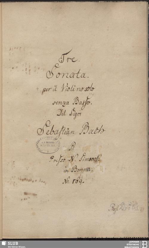 Vorschaubild von 6 Sonatas - Becker III.11.6