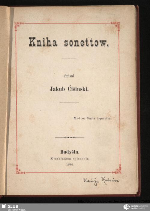 Vorschaubild von Kniha sonettow
