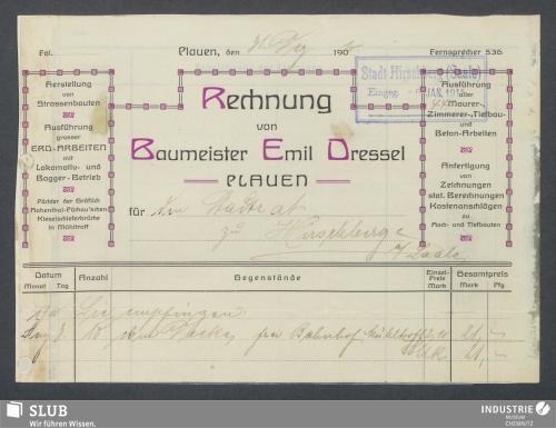 Vorschaubild von Baumeister Emil Dressel, Plauen