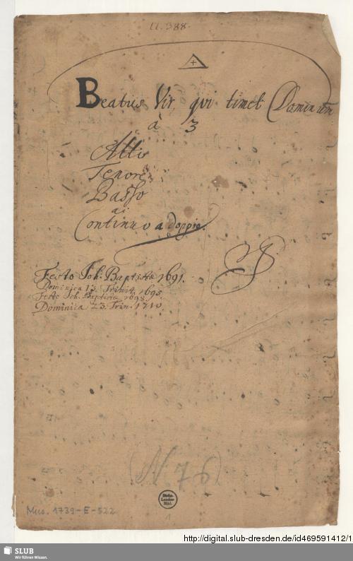Vorschaubild von Beatus vir - Mus.1739-E-522