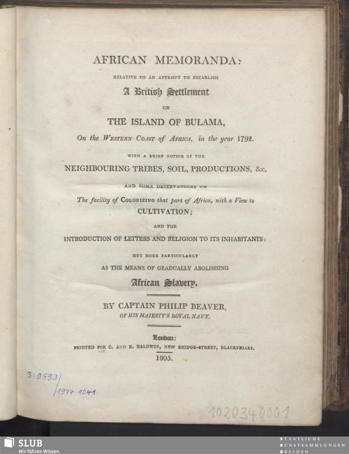 Vorschaubild von African Memoranda