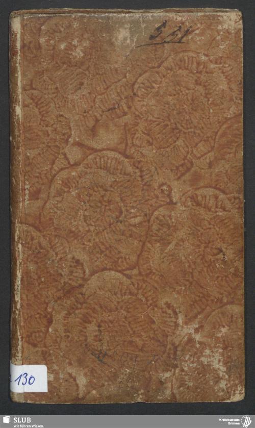 Vorschaubild von Wanderbuch für den Müllergesellen Ernst Alexander Constantin Becher aus Merseburg - BId 130