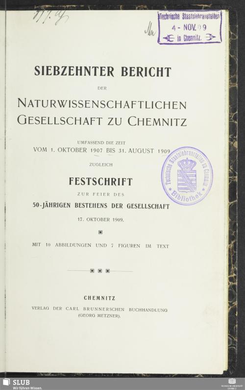 Vorschaubild von [Bericht der Naturwissenschaftlichen Gesellschaft zu Chemnitz]