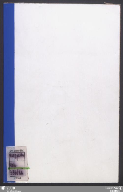 Vorschaubild von Beschreibung von Bürgstein, Habichtstein und Bößig in Böhmen