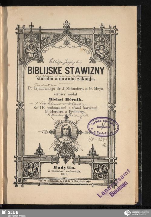 Vorschaubild von Biblijske stawizny staroho a nowoho zakonja