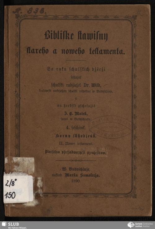 Vorschaubild von Horny skhodźeńk. II. Nowy testament