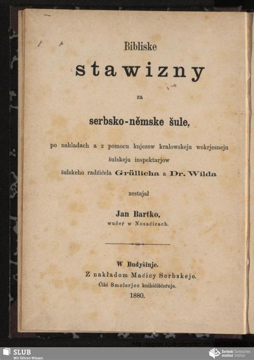 Vorschaubild von Bibliske stawizny za serbsko-němske šule