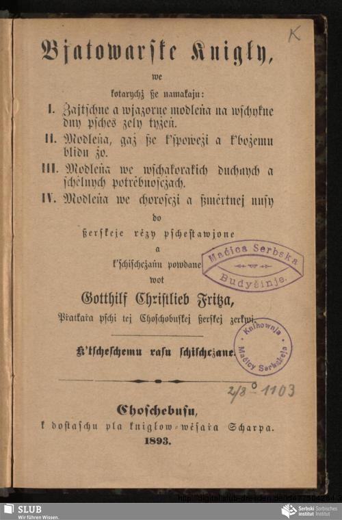 Vorschaubild von Bjatowarske knigły