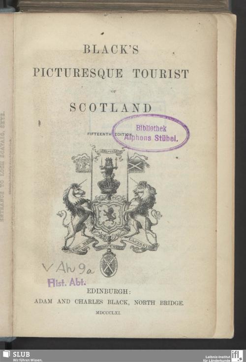 Vorschaubild von Black's picturesque tourist of Scotland